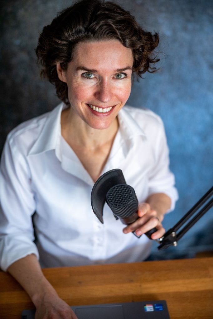 Annik Rauh beim Podcast